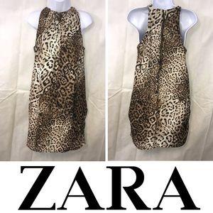 ZARA BASIC LEOPARD DRESS SIZE MEDIUM